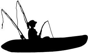 Girl Kayak Fishing Car Or Truck Window Decal Sticker Rad Dezigns Kayak Fishing Kayak Fishing Diy Kayaking