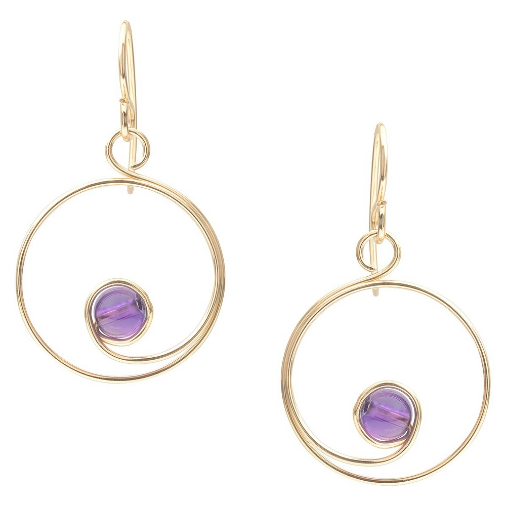 Women's Tressa Collection Sterling Silver Spiral Bead Earrings Handmade - Gold