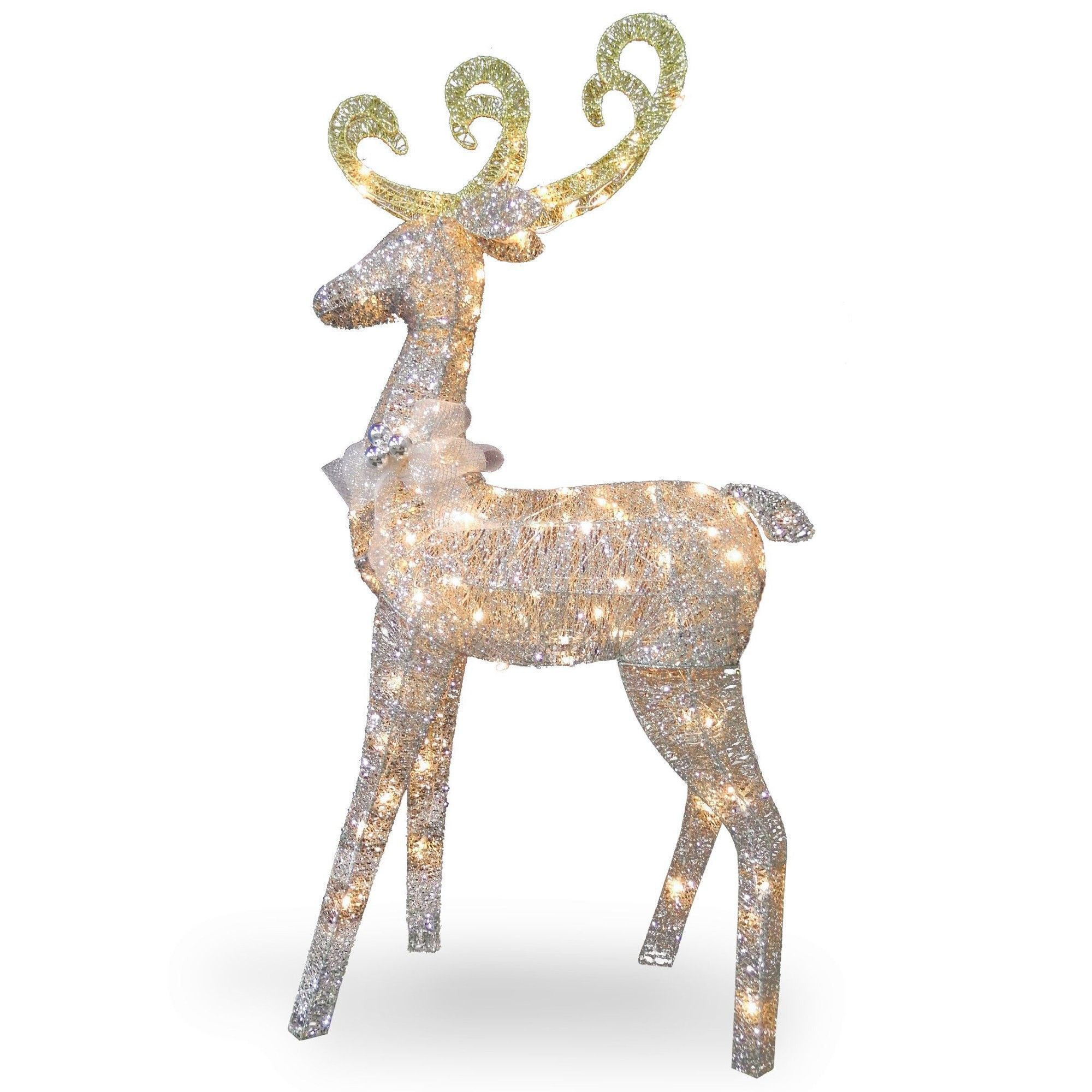 Crystal Standing Deer Christmas Decoration Decorating With Christmas Lights Outdoor Holiday Decor Reindeer Decorations