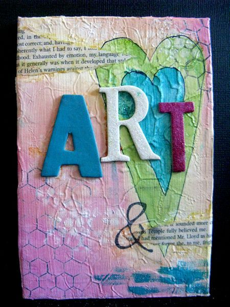 mini canvas card by Yaya