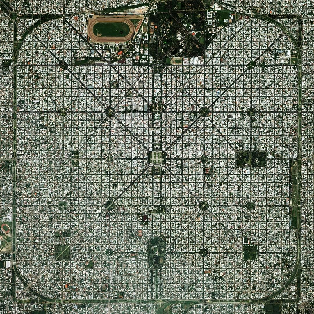 """""""The planned city of La Plata - the capital city of the Province of Buenos Aires - is characterized by its strict grid pattern. At the 1889 World's Fair in…"""""""