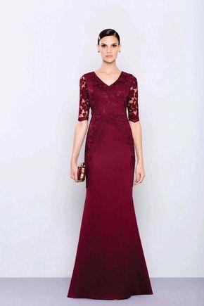 vestido de festa 2017 marsala ou vinho 0f45d31589d2