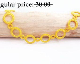 SALE Blue crochet necklace  Fiber art jewelry Crochet jewelry