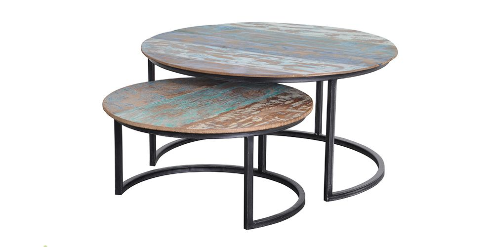 Ordinaire #dBodhi Solo Coffee Tableu0027s Come In A Set Of Two. Designed With A Rustic  Style These Coffee Tables With Add A Pop Of Colour And Style To Your Livinu2026