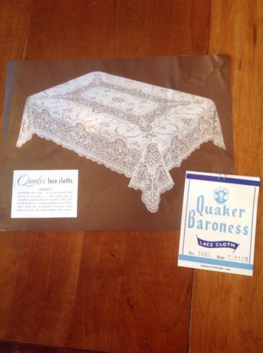 Vintage Quaker Lace Tablecloth Baroness 72 X 108 Never Used In Original Box    EBay