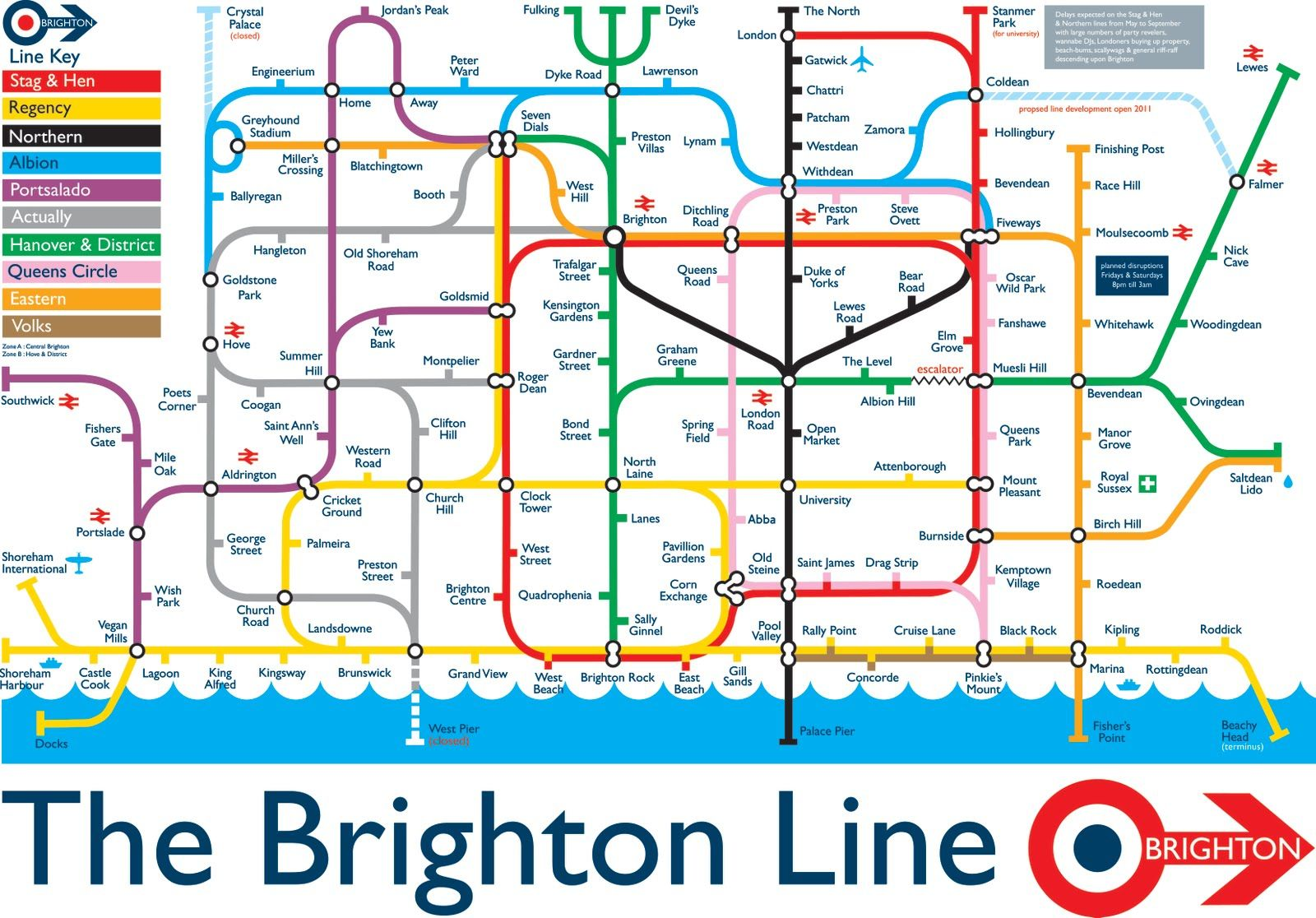 Map Of England Brighton.The Brighton Line By Sean Sims Illustrations In 2019 Brighton