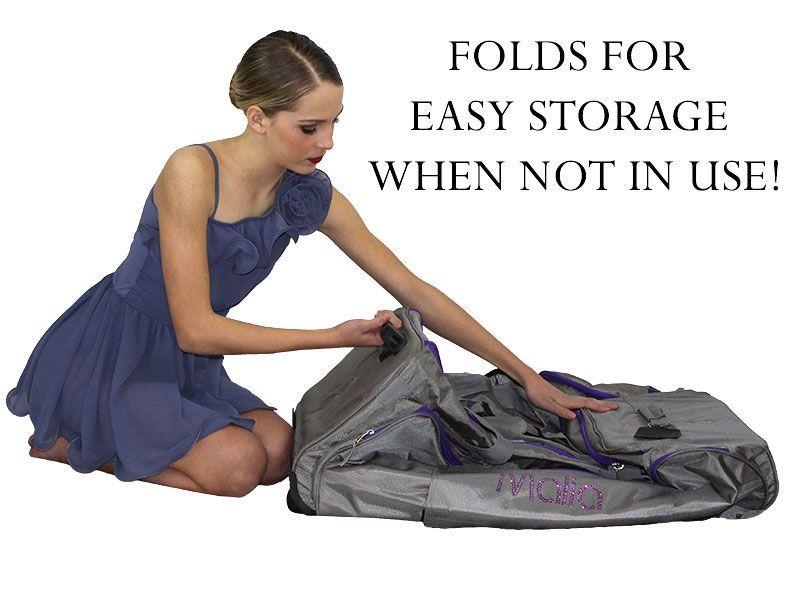 Pack 2 Rack Rolling Foldable Dance Bag Dance Bag Bags