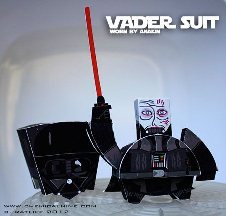 Vader Suit Paper Toy | Paperized.net