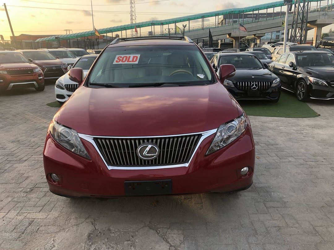 Sealed Deal 2011 Lexus Rx350 Red on Cream interior Sold