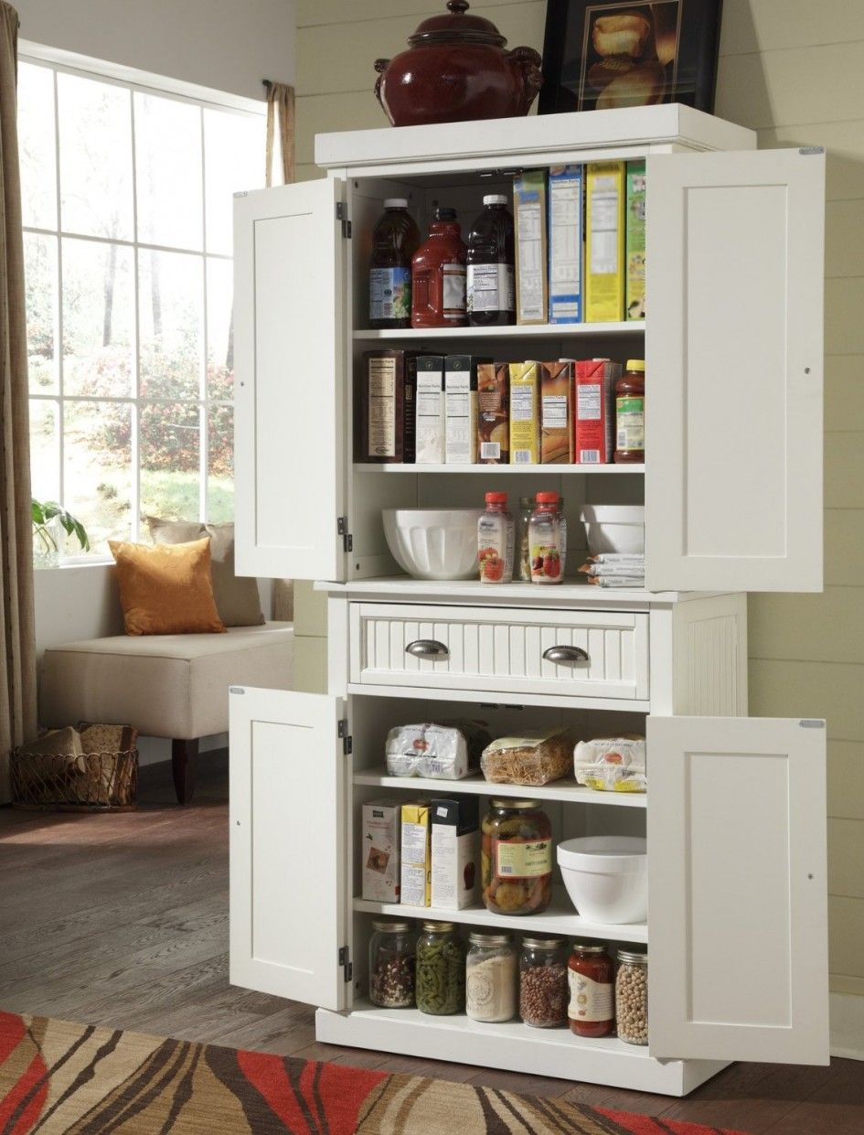 Awe Inspiring Stand Alone Pantry For Kitchen With Vintage Metal Drawer Handles Small Kitchen Storage Kitchen Pantry Storage Free Standing Kitchen Pantry