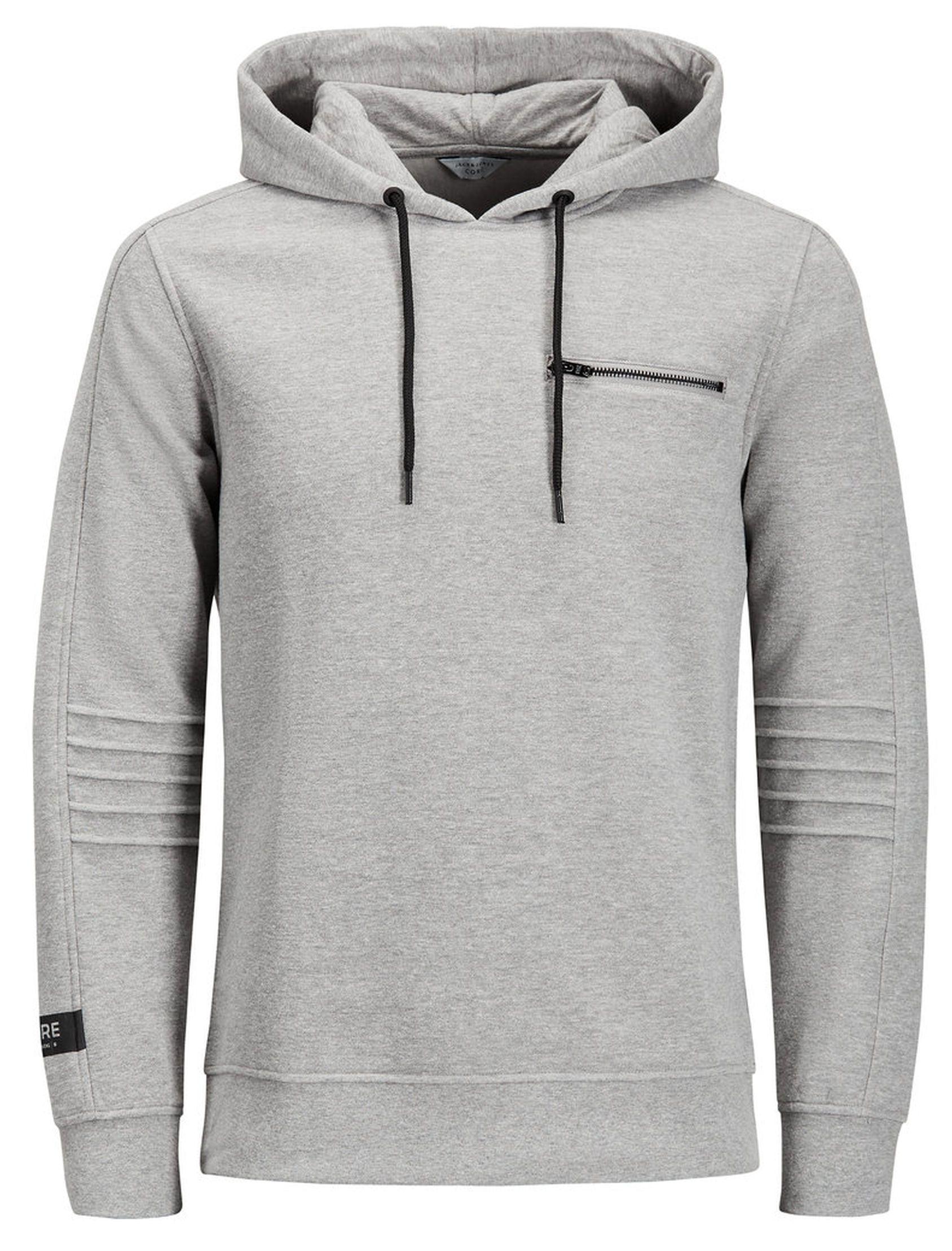 Jack Jones Core Pat Overhead Hoodie Light Grey In 2021 Jack Jones Mens Sweatshirts Hoodie Hoodie Print [ 2216 x 1688 Pixel ]