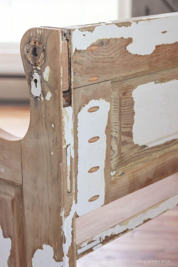 Old Door, New Bench | Rustic bench, Wood doors and Bench