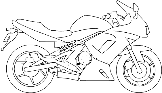 coloriage de moto à imprimer in 2020  motorcycle drawing