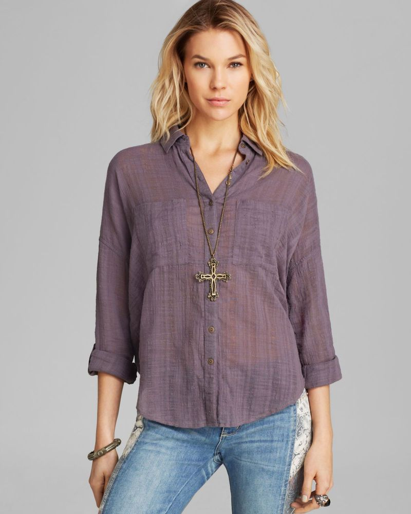dac48b058 172463 NWD Free People Shibori Siren Button Down Back Open Gauzy Shirt Top  M #fashion #clothing #shoes #accessories #womensclothing #tops (ebay link)