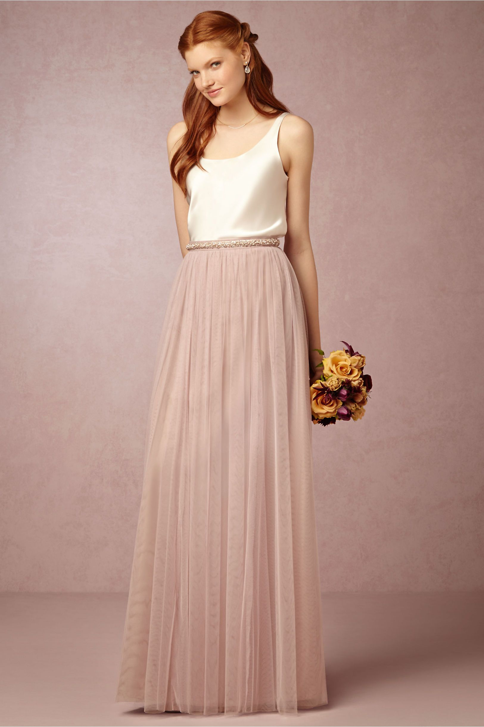 Louise Tulle Skirt from @BHLDN | Rustic Fall Winery Wedding Planning ...