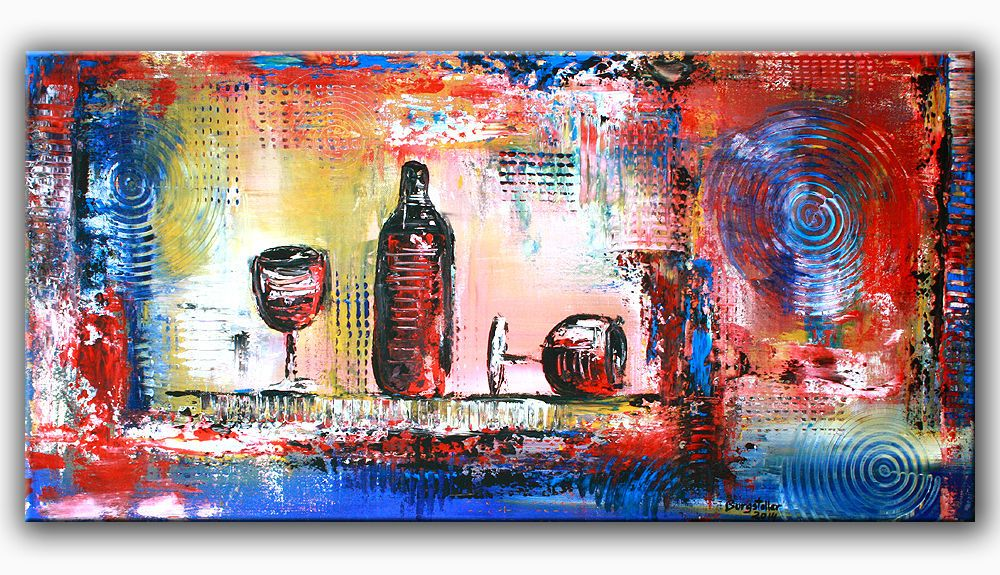 burgstaller malerei acrylbild bunt abstrakt kunst original dekobild gem lde wein http www. Black Bedroom Furniture Sets. Home Design Ideas