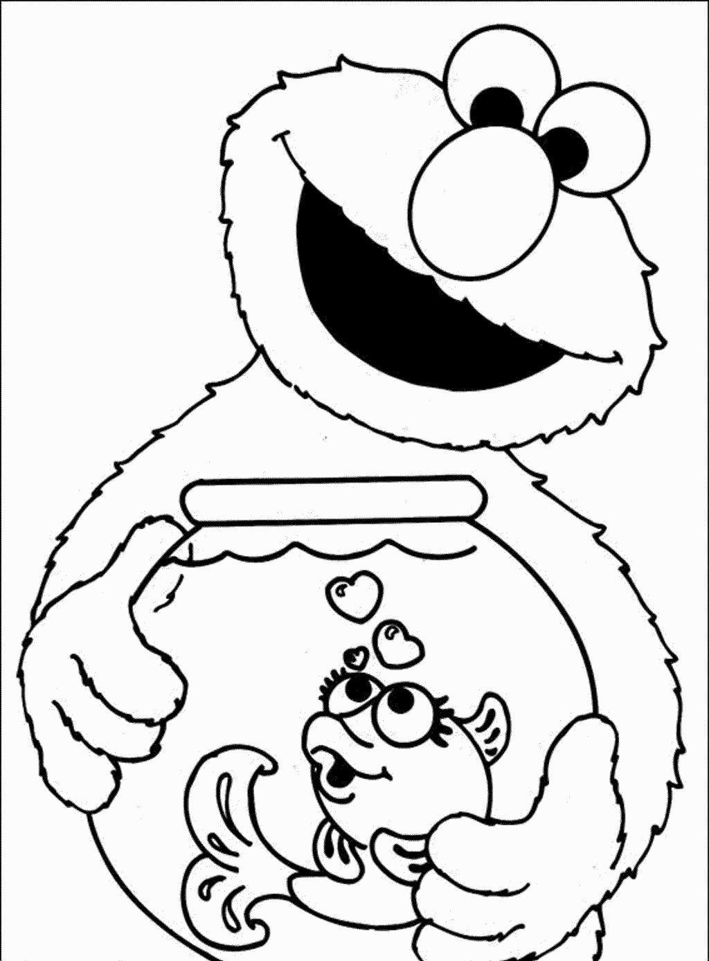 Elmo Coloring Page Kleurplaten Sesamstraat Kleuren