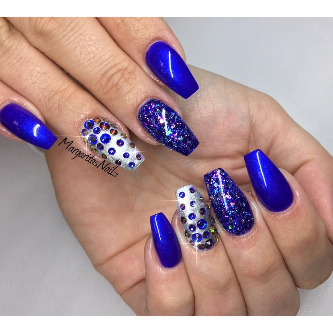 blue coffin nails a nailart fingern gel pinterest. Black Bedroom Furniture Sets. Home Design Ideas