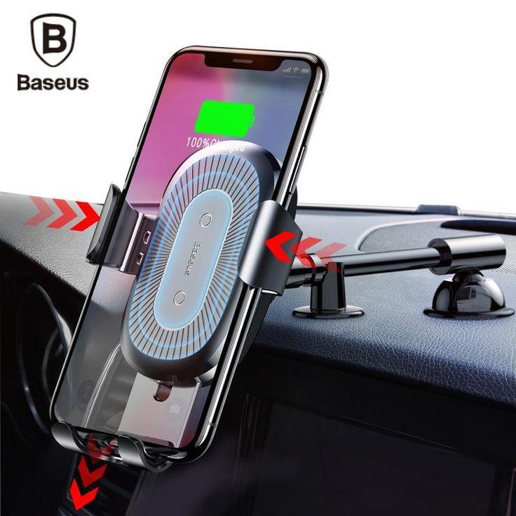 wholesale dealer 7c254 d77ea Baseus Car Holder Qi Wireless Quick Charger Pad w/Gravity Mount For ...