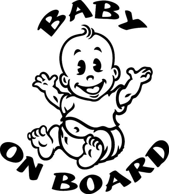 Baby On Board Custom Made Vinyl Sticker By CustomStickerDecals - Custom made vinyl decals