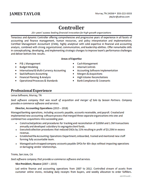 Accounting Manager Resume Example Professional Examples Dissertation