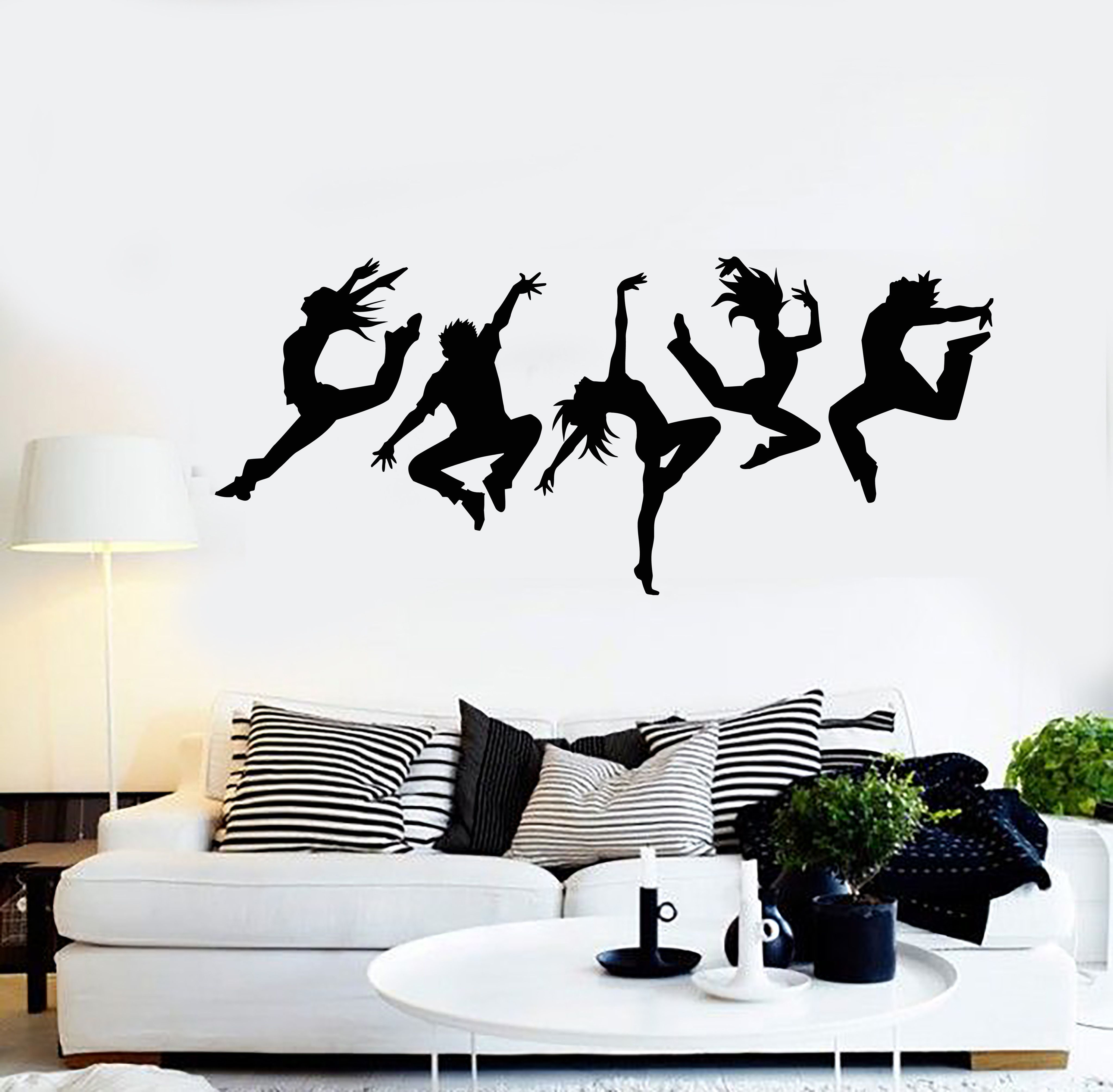 Ballet dancers light switch decal sticker girl dance studio home decor