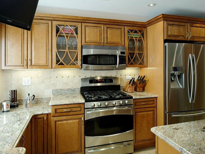 White Ice Granite Countertops (Pictures, Cost, Pros and ... on Maple Cabinets With White Granite Countertops  id=47085