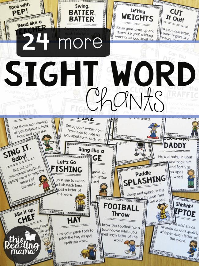 24 FREE Sight Word Chants | Kind, Kinder printables und Kreativ