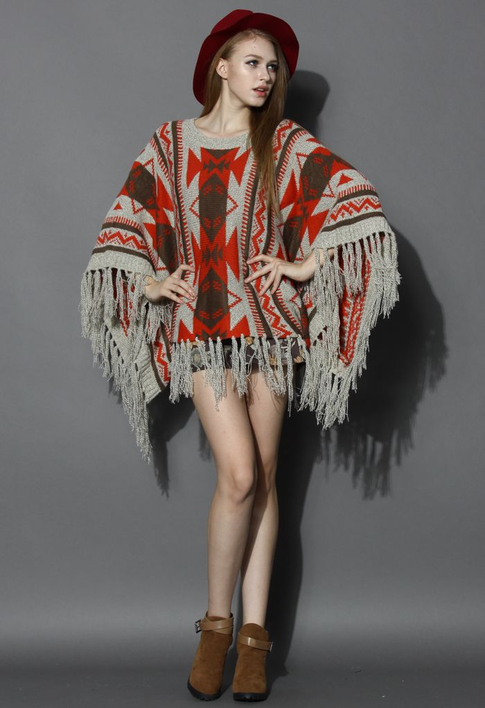 Amazing poncho - love the colors for fall