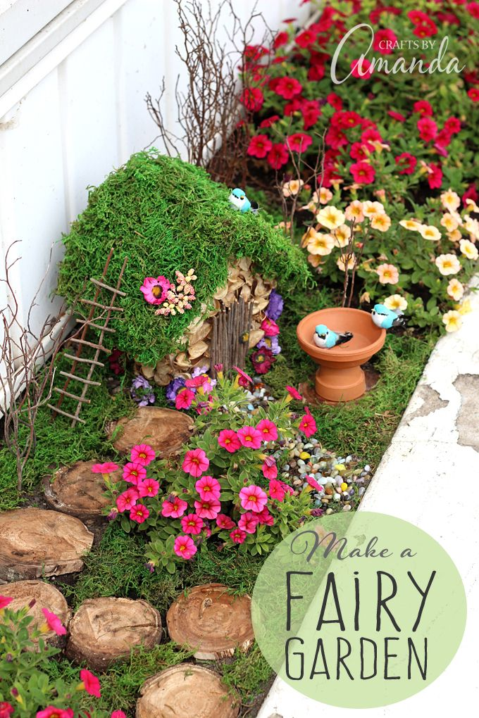 Picture Your Magical Fairy Garden On Top Read This And Make It So