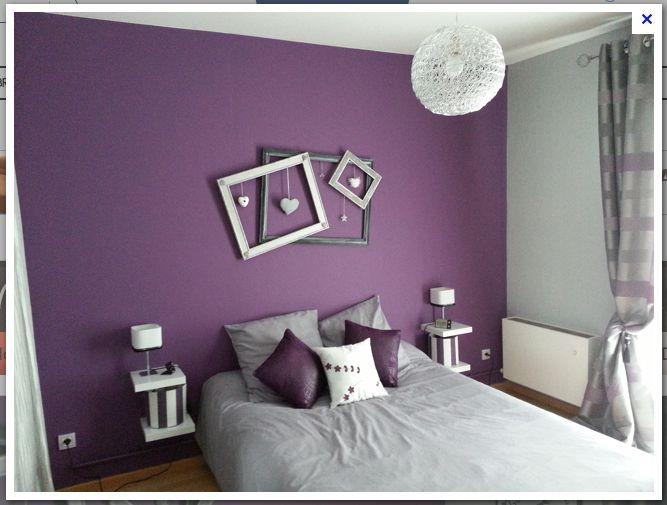 Chambre violine | chambre | Deco chambre, Chambre violet et gris et ...