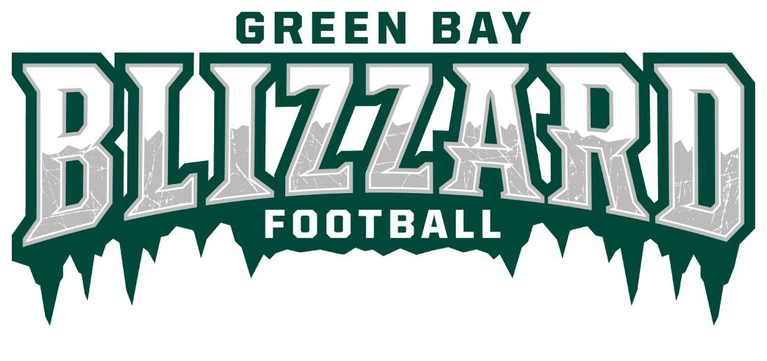 Green Bay Blizzard Green Bay Word Mark Logo Blizzard