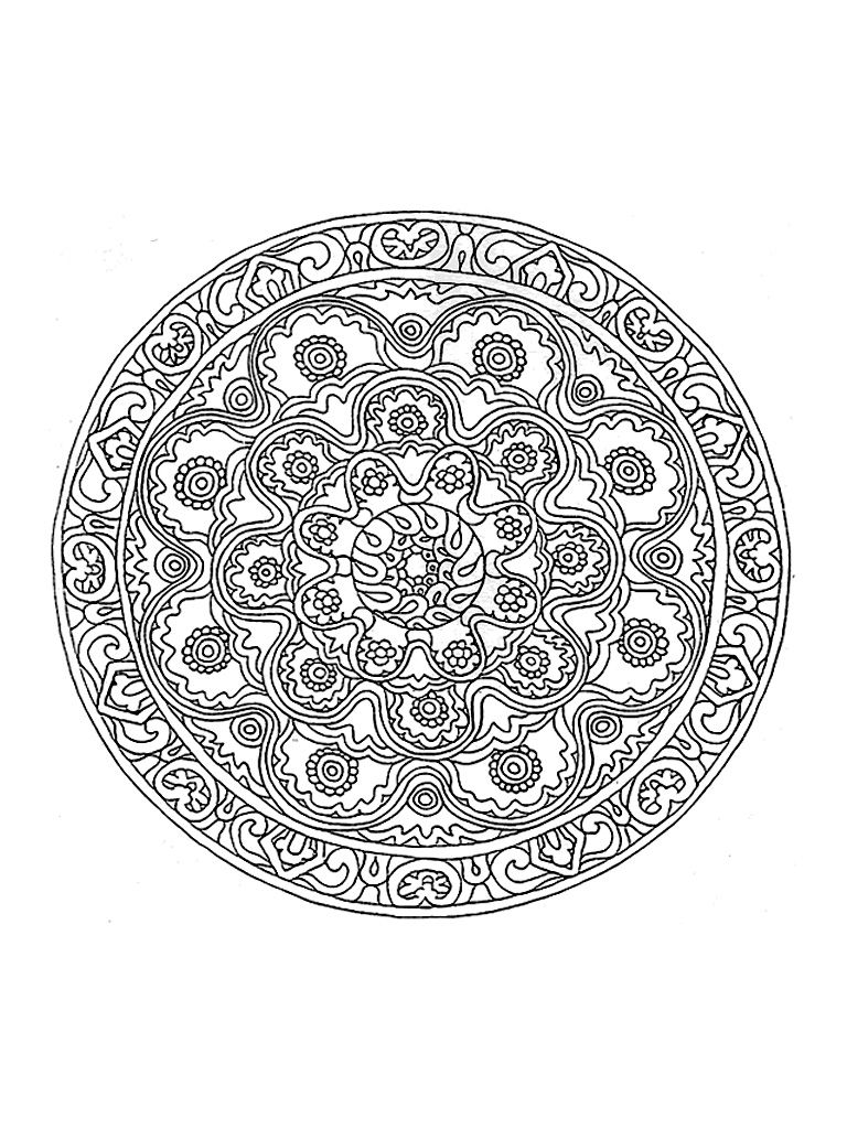 Quite Difficult Coloring By Its Great Wealth This Mandala Will Give You A Hard Time From The Mandala Coloring Pages Mandala Coloring Printable Coloring Pages