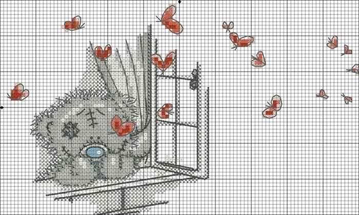 Cross Stitch World: CROSS STITCH:_ Tatty Teddy & Butterflies