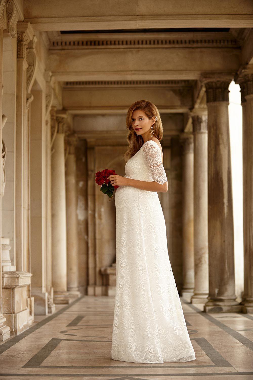 Lace dress for pregnant  The Best Maternity Wedding Dresses  dress  Pinterest  Lace