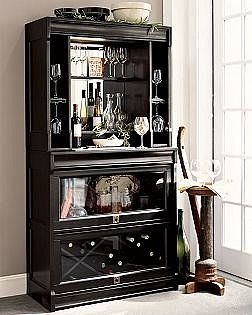 Lawyer S Bar Hutch From Pottery Barn No Longer Offered What If The Gl Doors Were Roll Top Instead