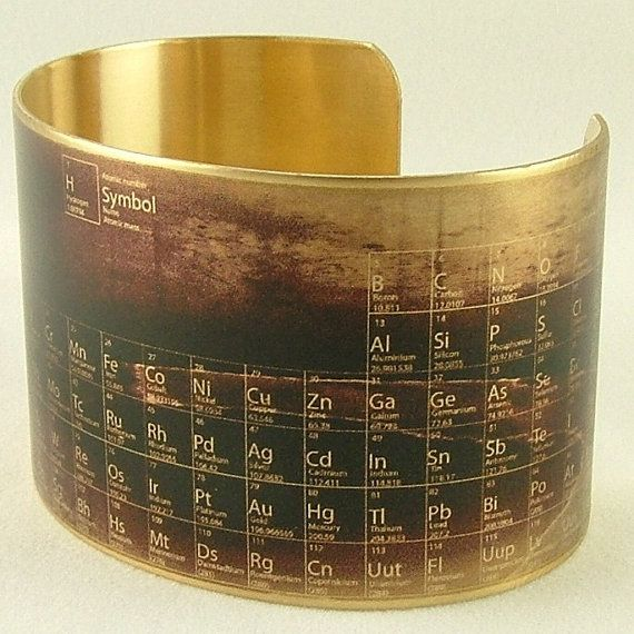 steampunk cuff bracelet periodic table of elements science jewelry unique gifts for him or her tech gift pharmacist gift - Periodic Table Of Elements Gifts