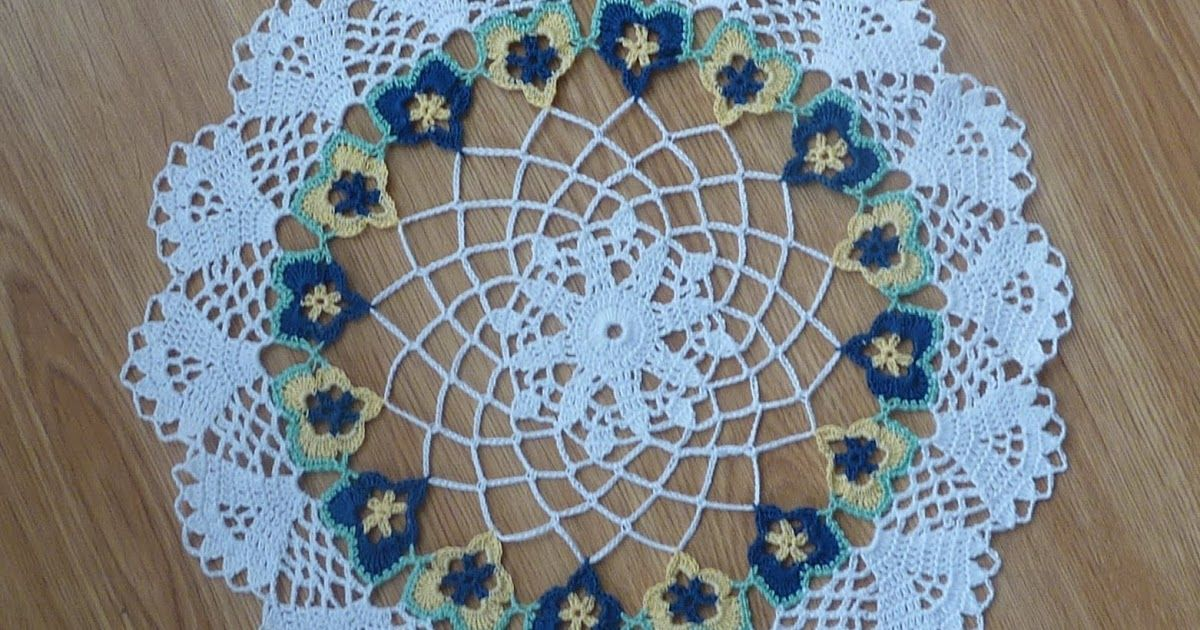 PDF version This pattern is for a crochet lacy doily that ...