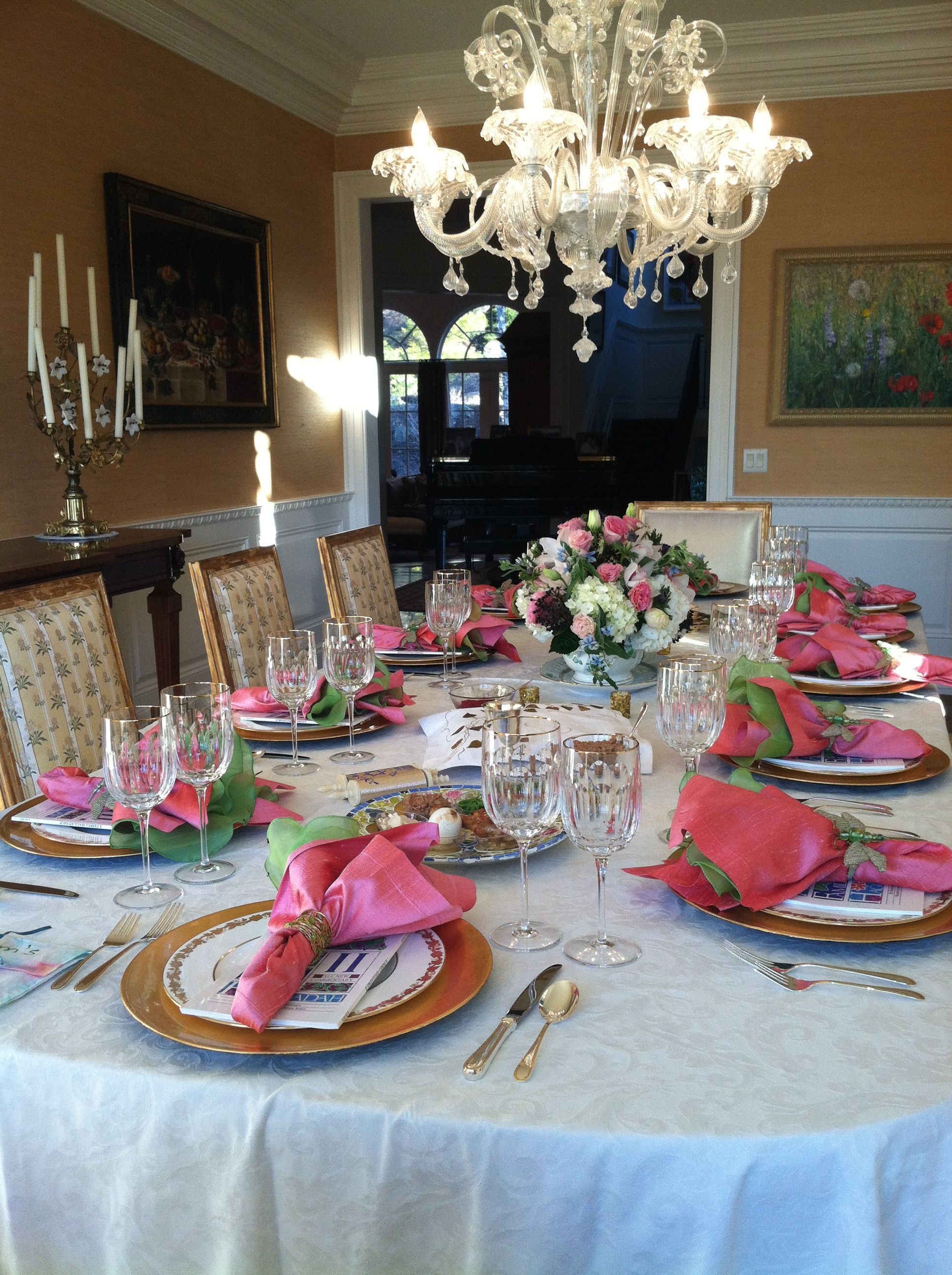 Table setting for Passover