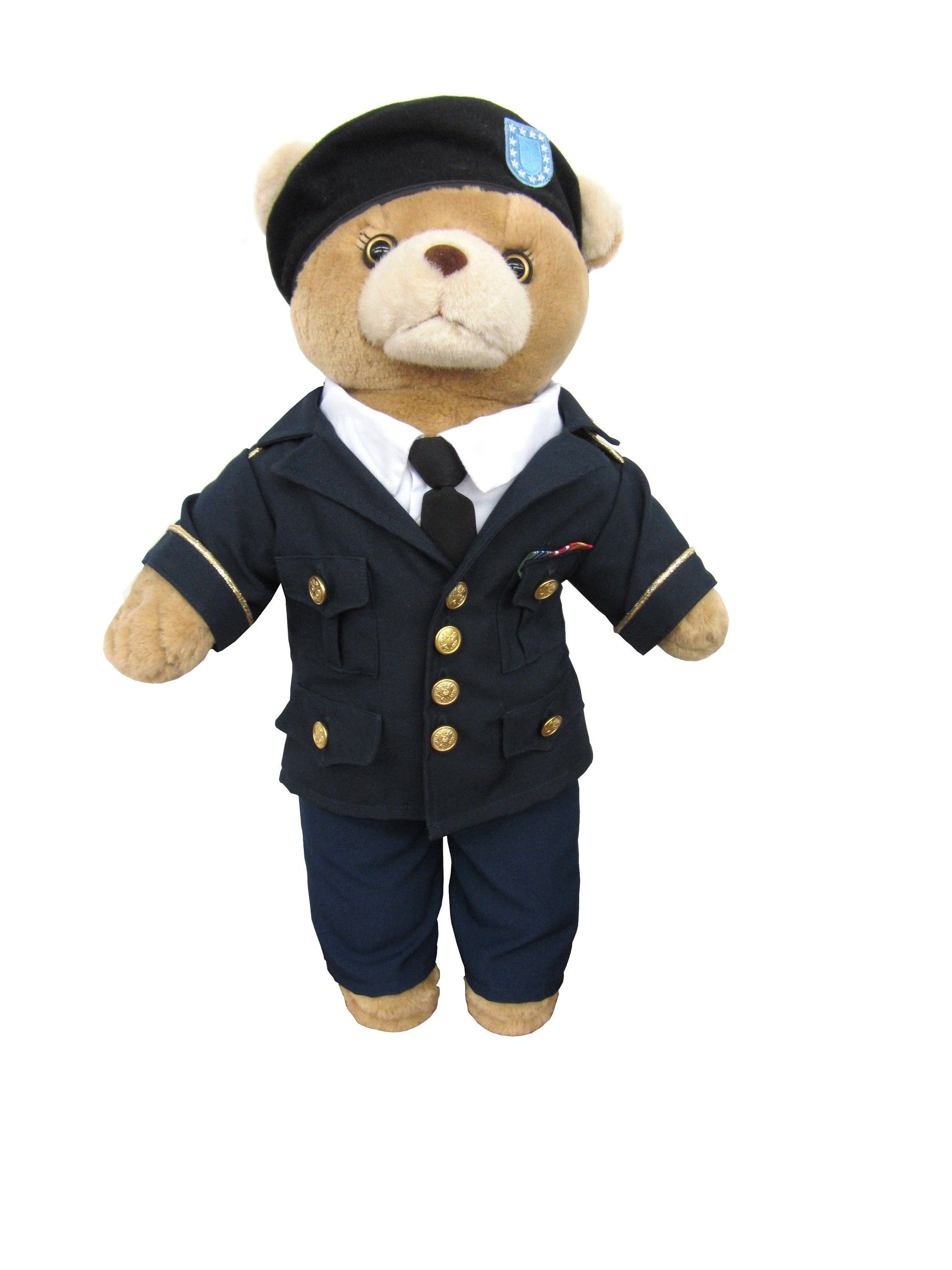 Army Bear Drill Sergeant 10 Inches Tall