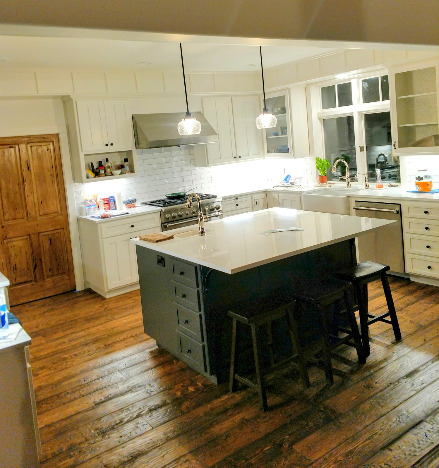 Rustic Hardwood Flooring Tips And Suggestion: Love This Kitchen Sent In From A Customer In Bend Oregon