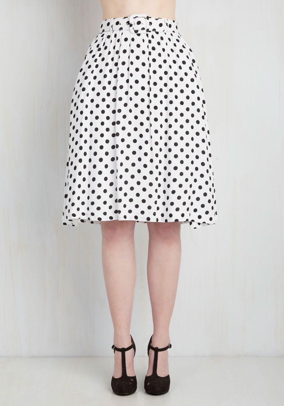 24b0743f872d27 Brio as You Are Skirt in White. If zeal is what youre feeling on the  inside, a twirl in this white skirt will display your vivacity on the  outside!