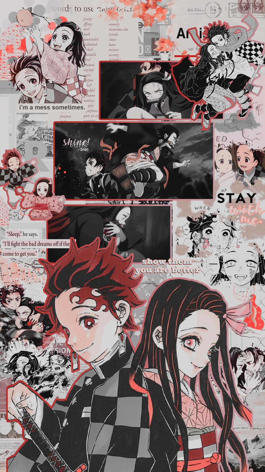 nezuko and tanjirou lockscreens ⇝ like/reblog if you save