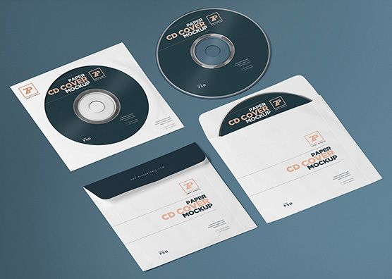 Free isometric CD mockup and paper CD cover mockup generator - free isometric paper