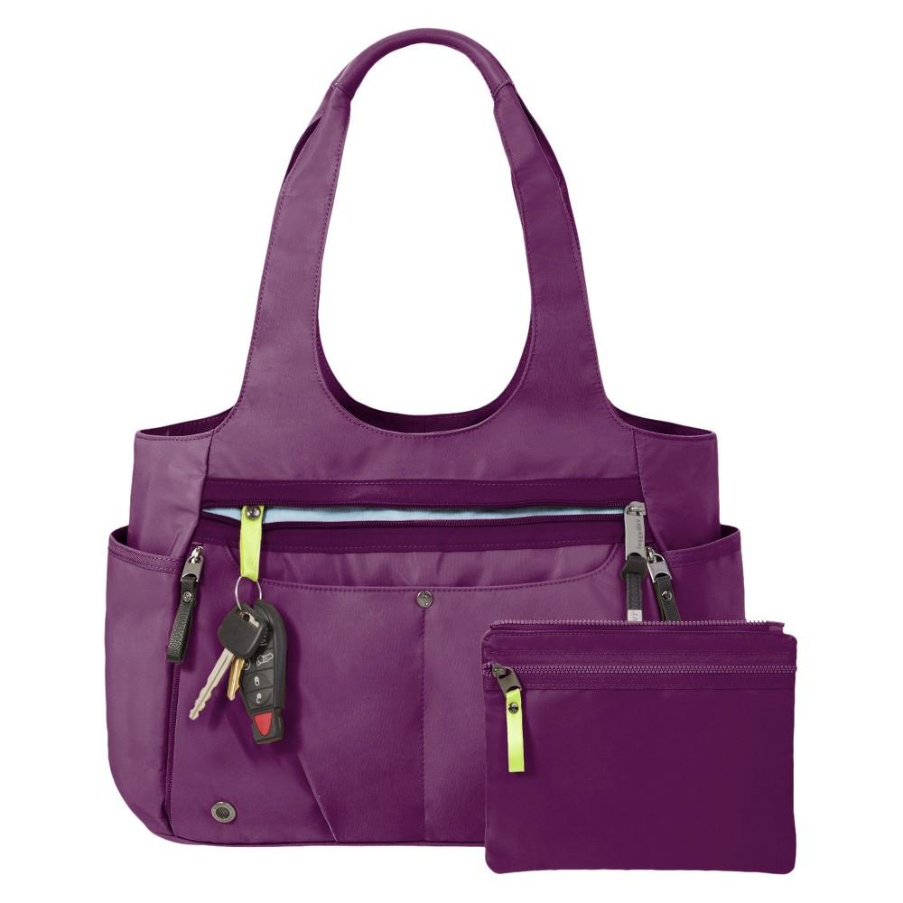 6873c4d03b65 BG by Baggallini Gumption Medium Tote Handbag - Mulberry, Women's ...