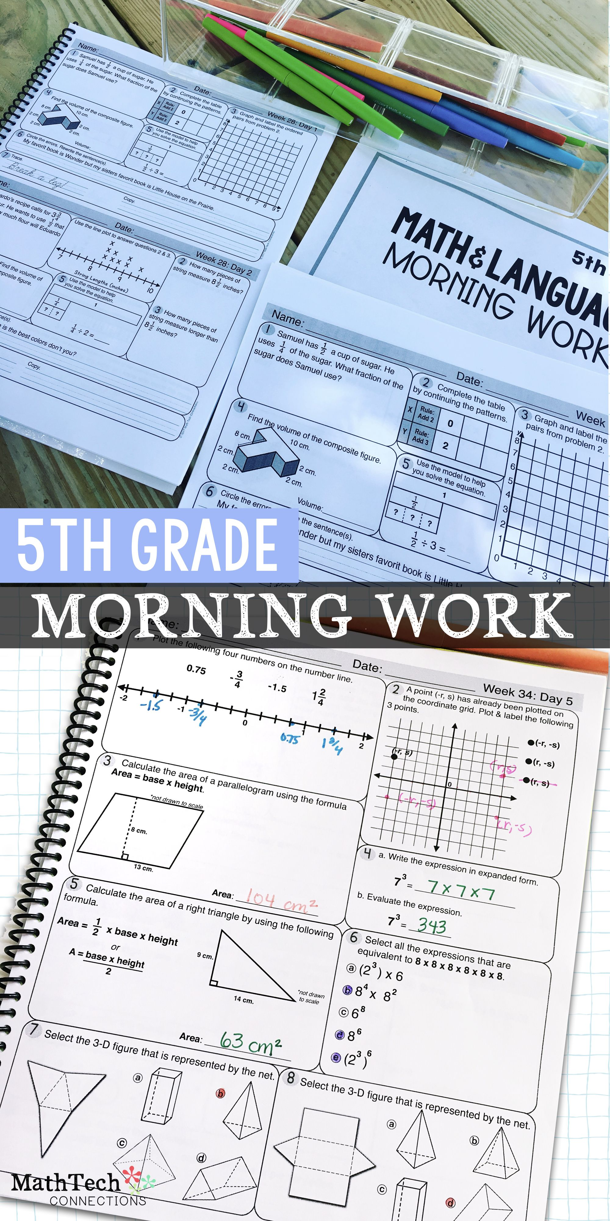 5th Grade Math Review Worksheets To Spiral Review Math Or