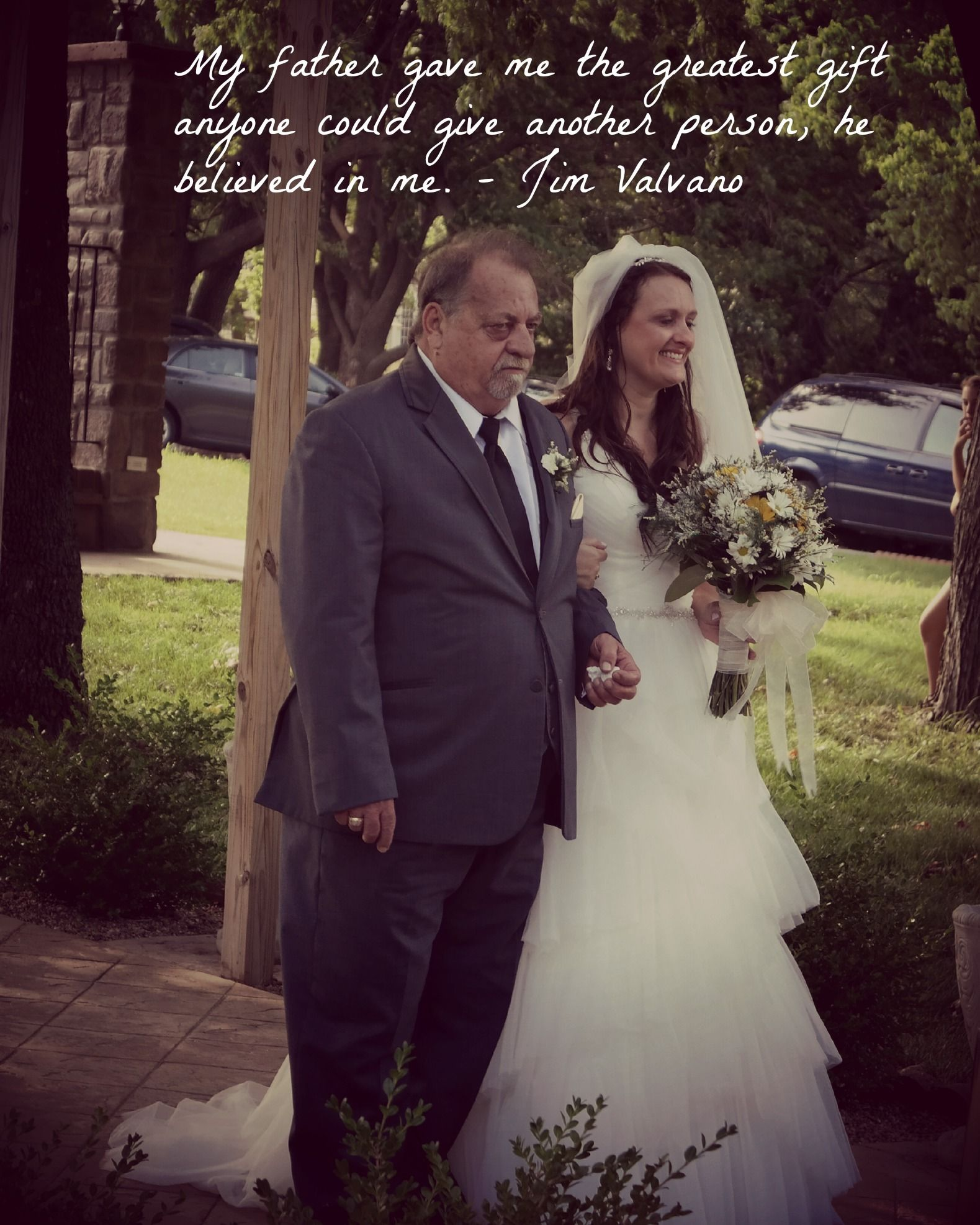 Father & Daughter Quote For Wedding Photo