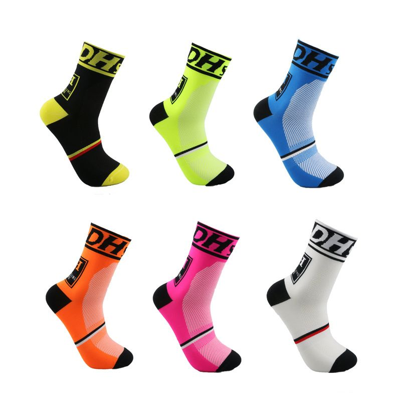 Men Women Riding Cycling Sports Socks Unseix Breathable Bicycle Footwear