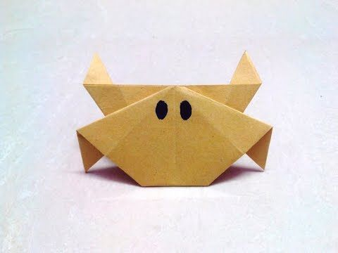 How To Make An Origami Paper Crab Origami Paper Folding Craft