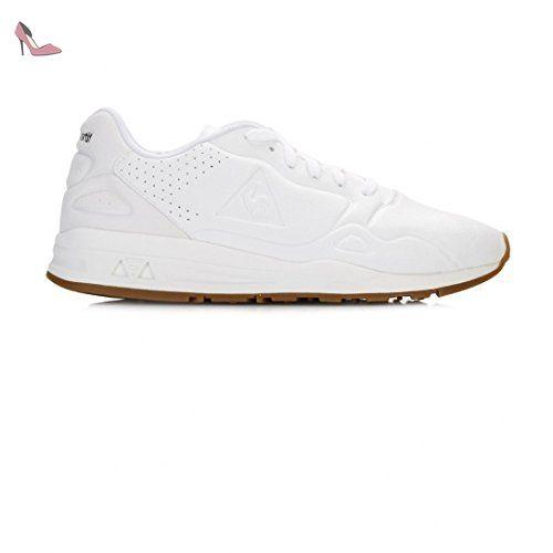 1bac827e65f4 Le Coq Sportif Agate LO S Lea Metallic Blanc Optical White Old Si Le ...